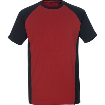 T-Shirt Unique, rot/schwarz, Gr. 3XL